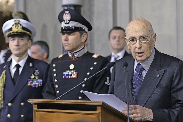 Bersani sucht Partner für eine neue Regierung