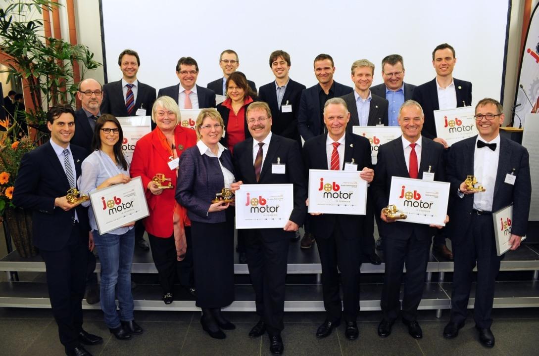 Die Jobmotoren des Jahres 2012.  | Foto: Thomas Kunz
