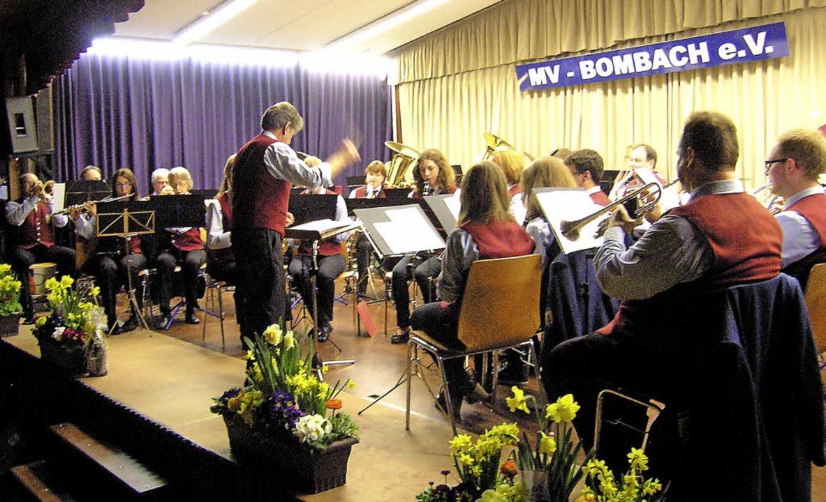 Einen Konzertabend mit Gästen aus Ring...  die Bombacher in der Schulbuckhalle.    Foto: Ute Schoeler