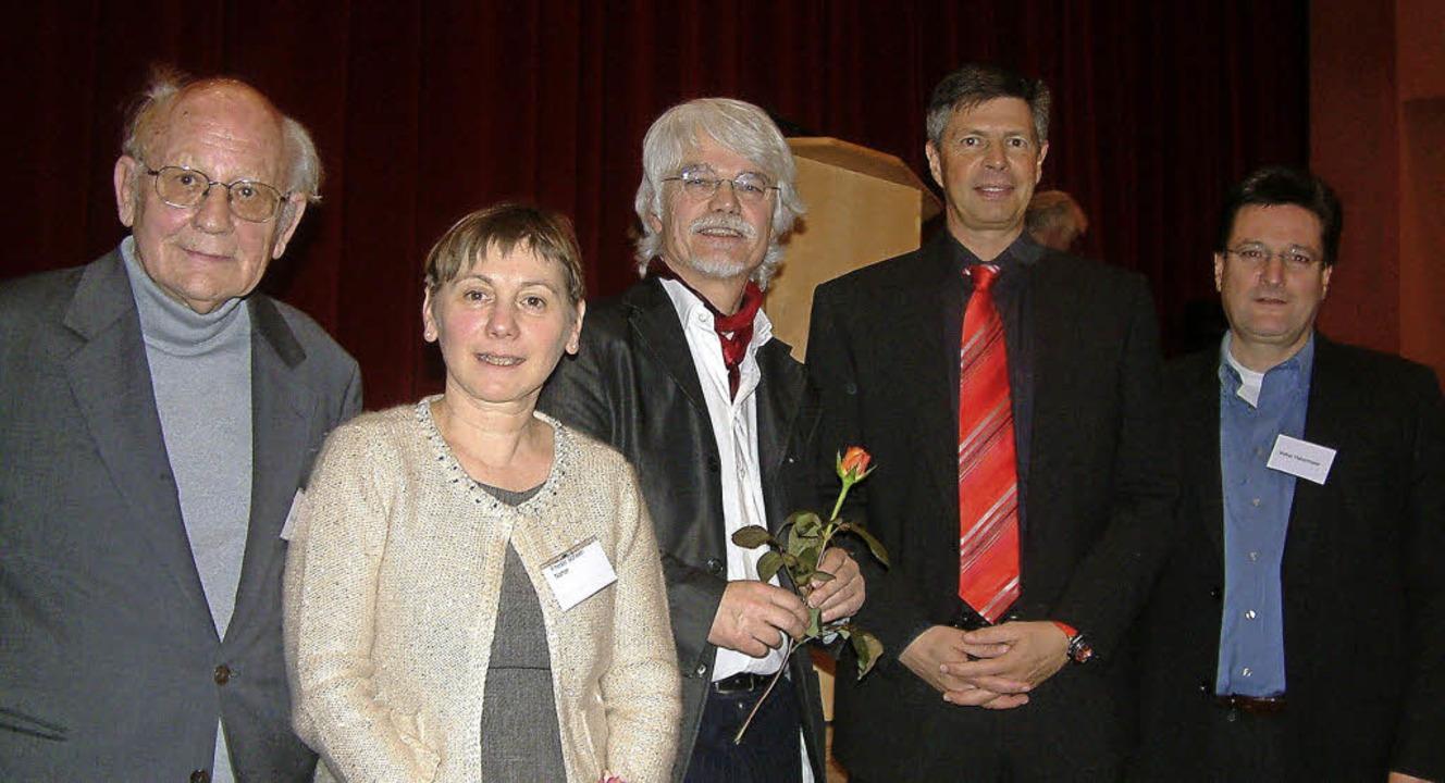 Feierten 25 Jahre Schopfheimer Mundart...erator Volker Habermaier (von links).   | Foto: Roswitha Frey