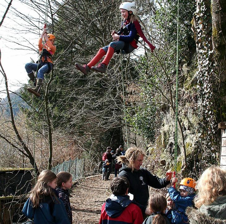 Die Kletteraktion beim Frühlingsfest kam super an   | Foto: Karin Heiss