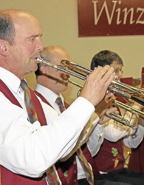 Die Winzerkapelle begeisterte die Zuhörer beim Frühlingskonzert.    Foto: Herbert Trogus