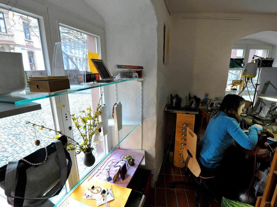 """Inzwischen wird im """"Atelier in G...Montag waren dort Kriminelle am Werk.     Foto: Bamberger"""