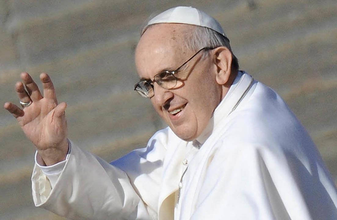 Mag es schlicht: Papst Franziskus     Foto: dpa