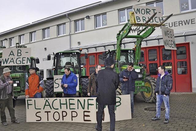Protest gegen Flächenfraß