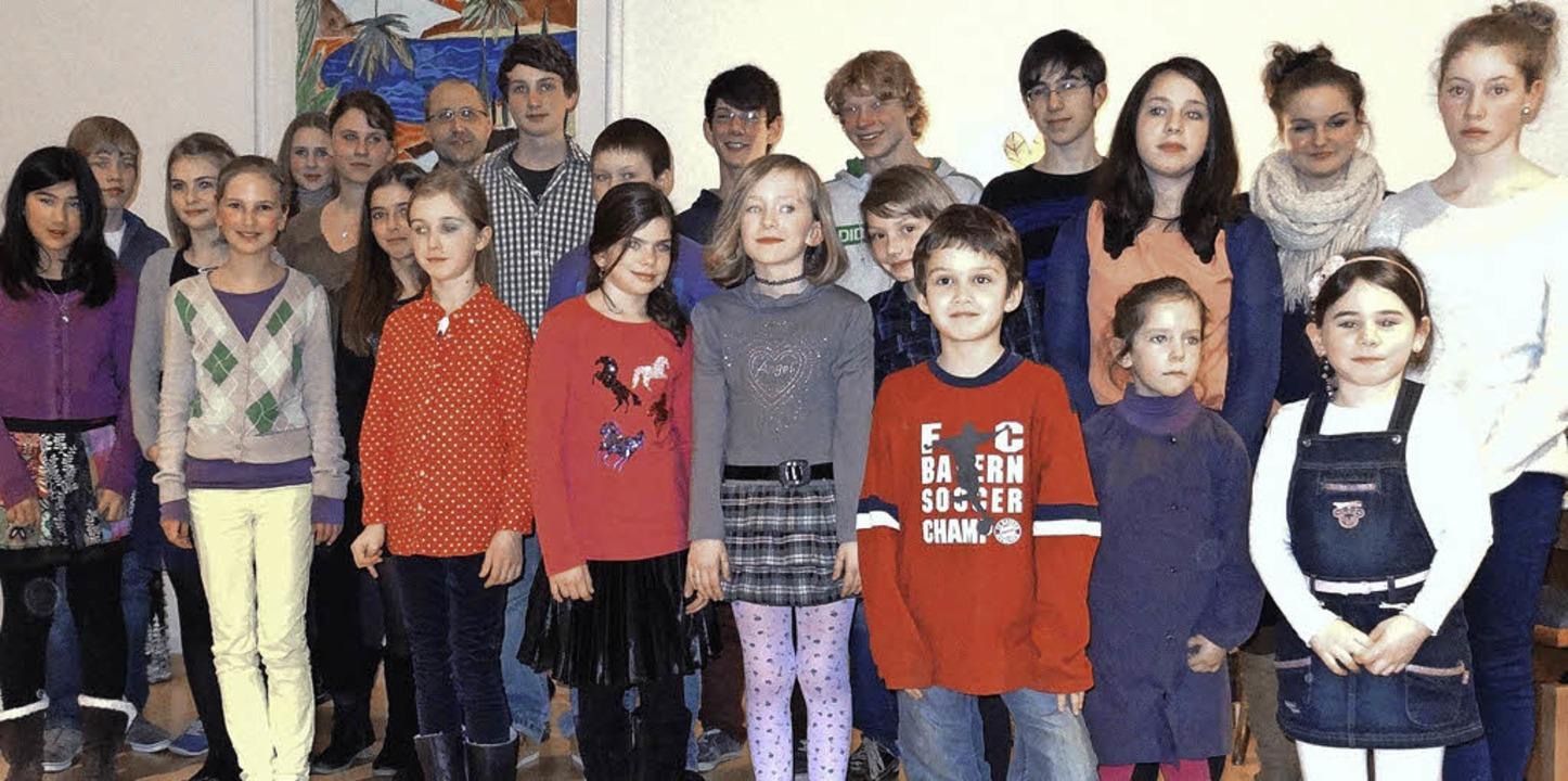 24  Schüler der Musikschule Markgräfle...                                        | Foto: Winfried Meier-Ehrat