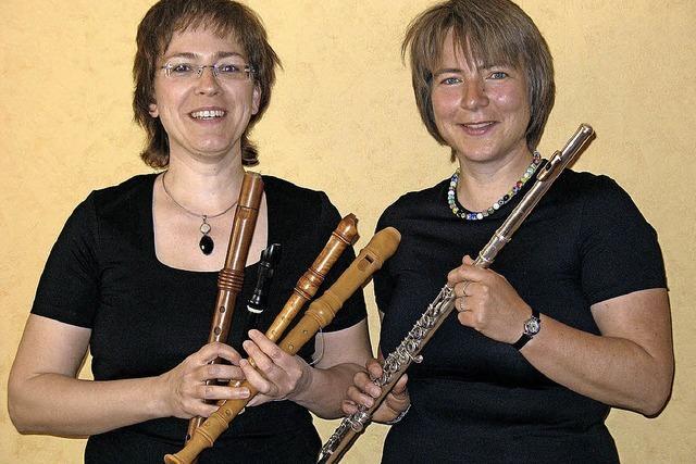 Ulrike Wettach-Weidemeier und Sonja Kanno-Landoll spielen Musik mit Vogelstimmenthemen