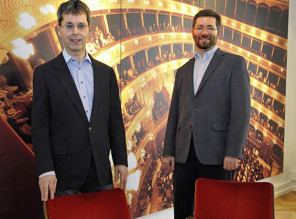Die beiden Reservix-Chefs Johannes Tolle und Johannes Güntert .   | Foto: Michael Bamberger