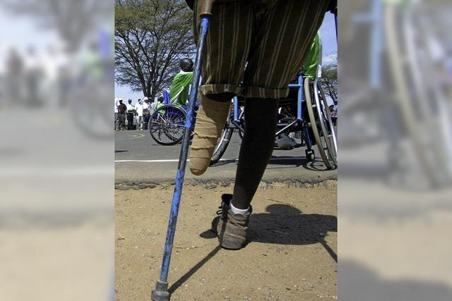 Hilfe für die Opfer von Landminen