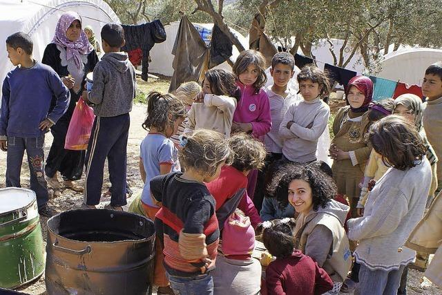Dunja Khoury hat sich in Syrien um Flüchtlingskinder gekümmert