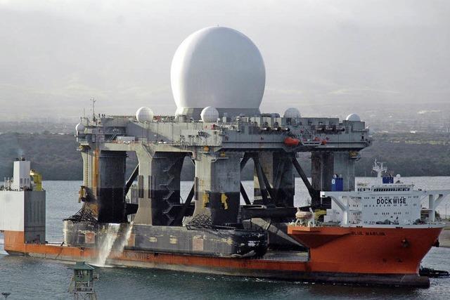USA verlegen Zerstörer und mobile Radarstaion in die Region