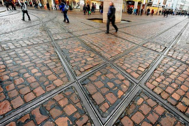 Straßenbahnknoten Bertoldsbrunnen wird 2014 aufwändig saniert