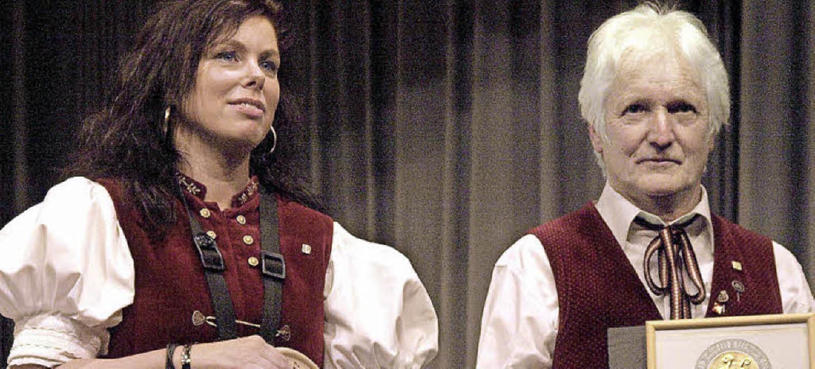 Beim Jahreskonzert des Musikvereins Ur...für 50 Jahre aktives Musizieren geehrt  | Foto: Karin Stöckl-Steinebrunner