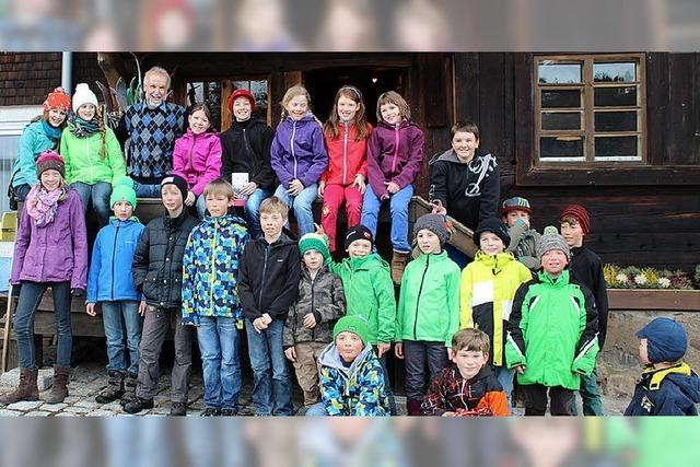 Junge Langläufer beenden Saison im Skimuseum