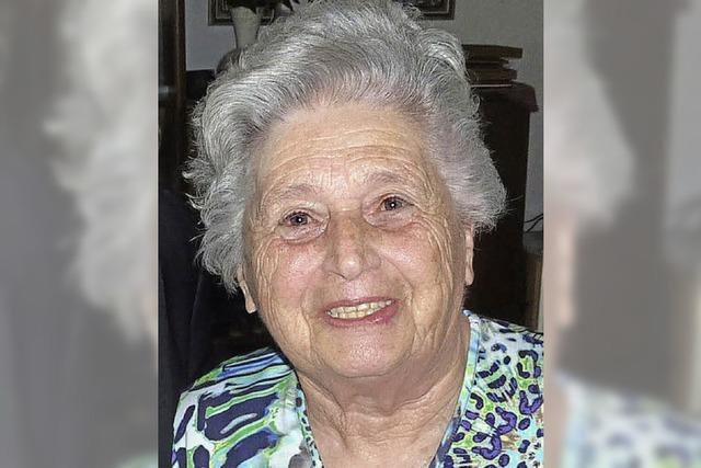 Ingeborg Senf wurde 80 Jahre