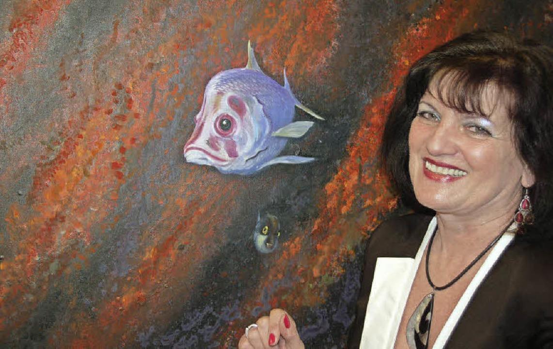 Mona Augsburg zeigt in Gundelfinger ihre Werke  | Foto: Andrea Steinhart