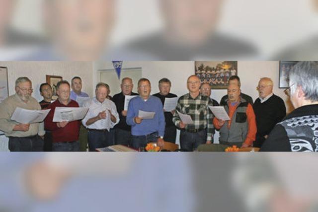 Huttinger Männerchor macht unverdrossen weiter – so lange es geht