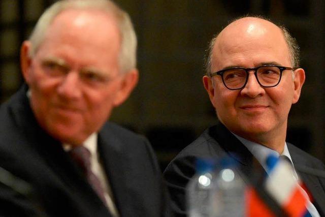 Ode an Europa: Schäuble und Moscovici in Straßburg