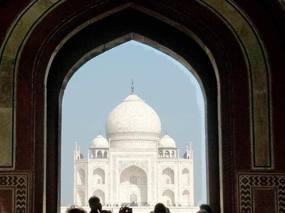 Haupteingang des Taj Mahal in Indien  | Foto: Michael Siebert