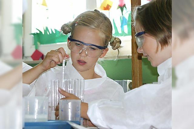 Schüler dürfen experimentieren