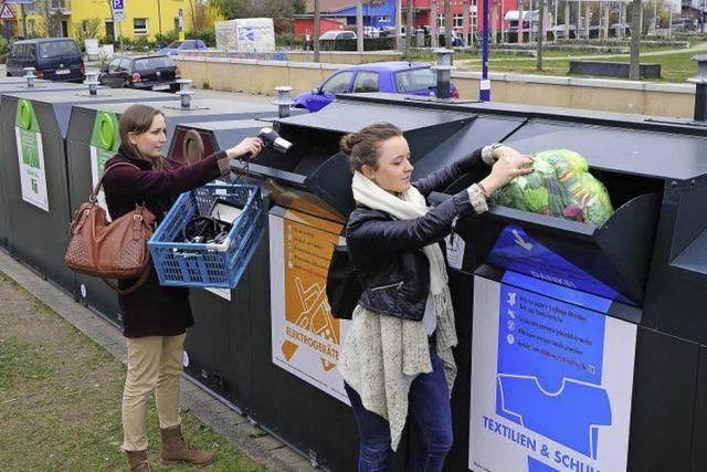 Recycling hoch drei in drei Stadtteilen