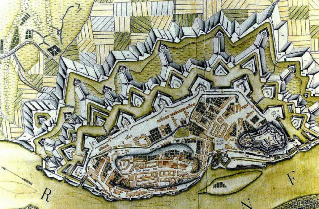 Ein Plan von Alt-Breisach: Mit dem Fes...Informationsabend und eine Exkursion.     Foto: Privat