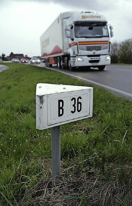 Die Bundesstraße 36 soll runtergestuft werden.     Foto: C. Breithaupt