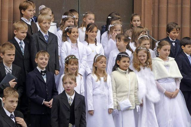 Kinder feierten die Kommunion