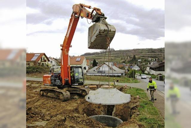 Baubeginn im Gebiet