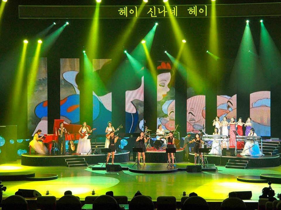 Mädchenmusik: die nordkoreanische Moranbong Band     Foto: bz