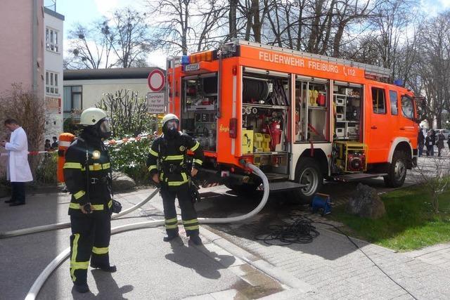 Kellerbrand in der Freiburger Kinderklinik