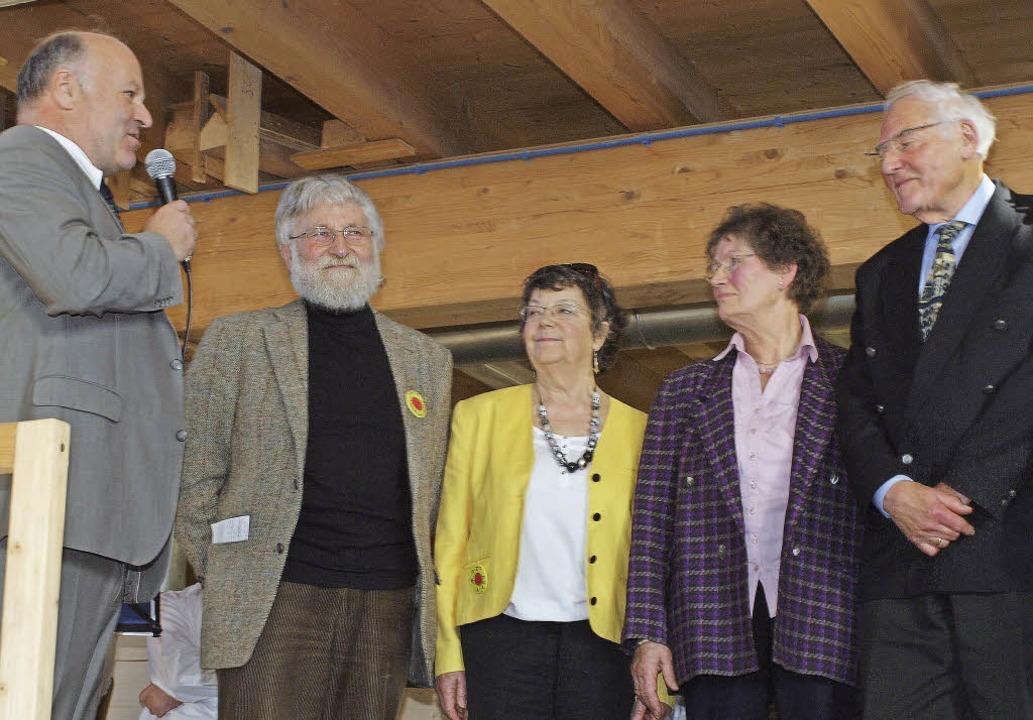 Verleihung des Klaus-Bindner-Zukunftsp... Rettig sowie Ilse und Günter Richter.  | Foto: Michael Haberer