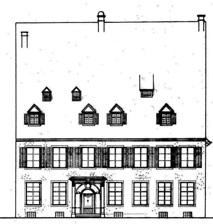 Eine Skizze von der Fassade des frühkl...s<BZ-FotoNurRepro>BZ</BZ-FotoNurRepro>  | Foto: privat