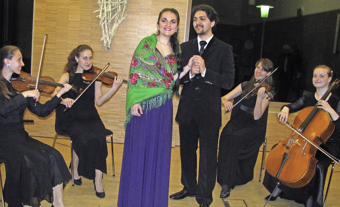 Die Musikstudenten Alexandra Kolatscho...n links) musizierten im Gemeindehaus.   | Foto: Michael Gottstein