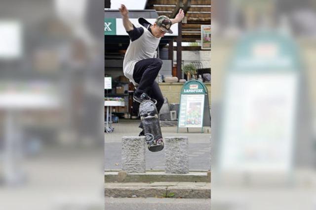 Parkplatz wird zu Skater-Parcours
