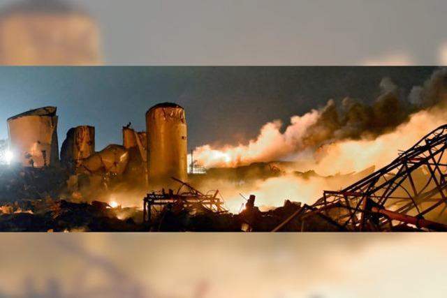 Mehrere Tote bei Explosion einer Düngemittelfabrik