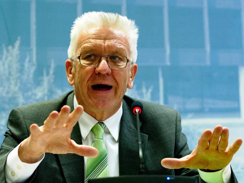 "Winfried Kretschmann: ""Die Wirku...d noch nicht wirklich erforscht""  | Foto: dpa"
