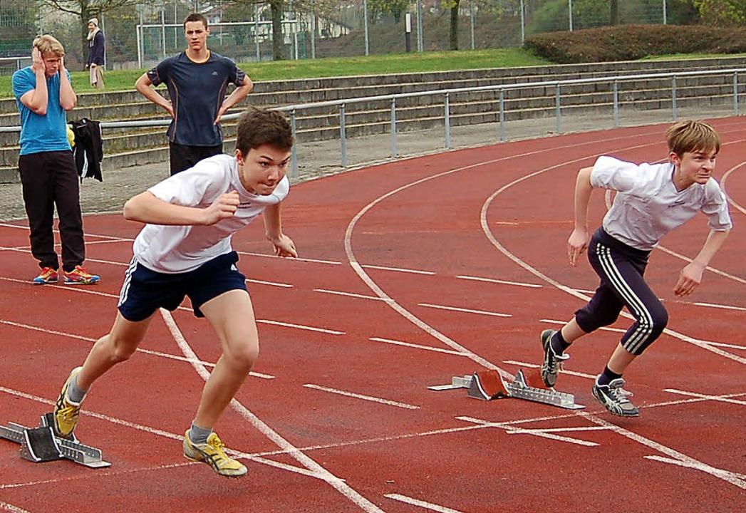 Der Startschuss zum 100-Meter-Lauf im ... allerdings noch weitere Fähigkeiten.   | Foto: Heinz Vollmar