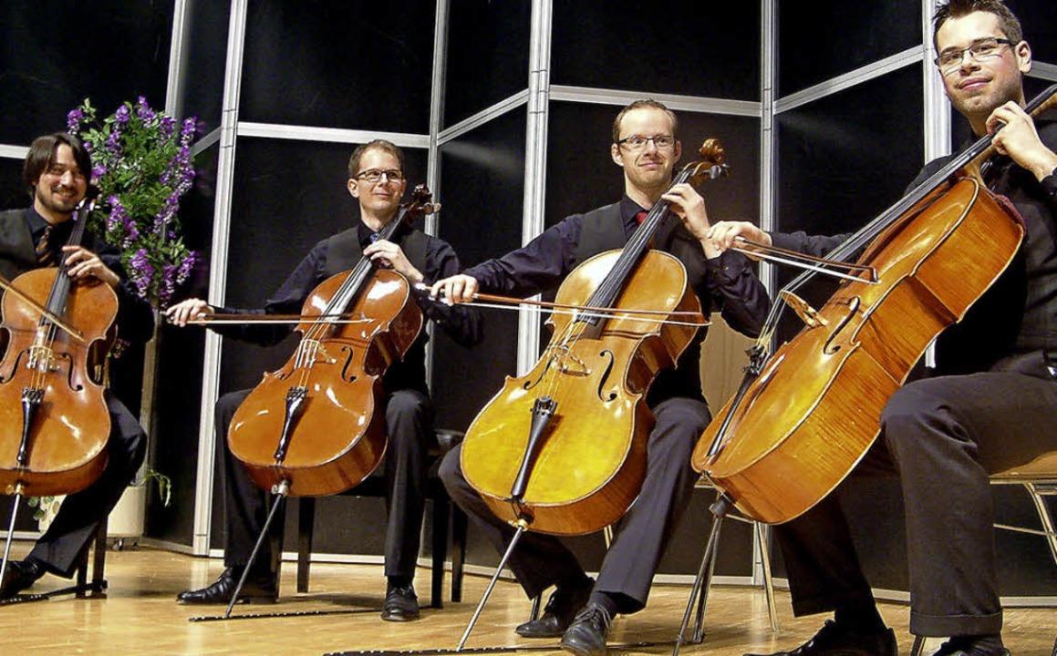 Große Oper für Celloquartett boten die...rem Auftritt in der Wehrer Stadthalle.  | Foto: roswitha frey