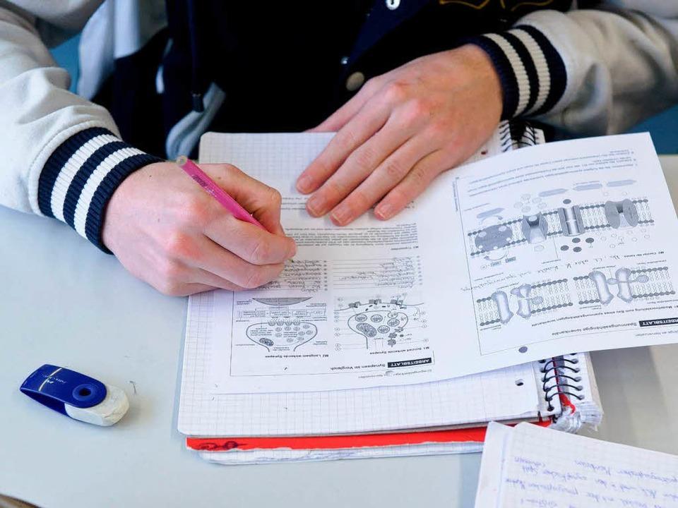 Laut Philologenverband sind viele Schüler auf dem Gymnasium überfordert.    Foto: dpa