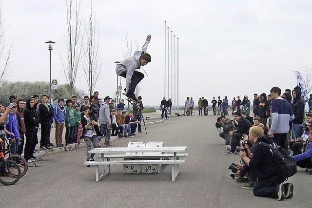 Skater zeigten in Heitersheim ihre Tricks