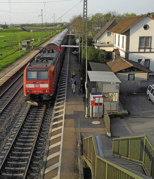 Der Bahnhof Auggen kann nur schöner werden.     Foto: Sigrid Umiger