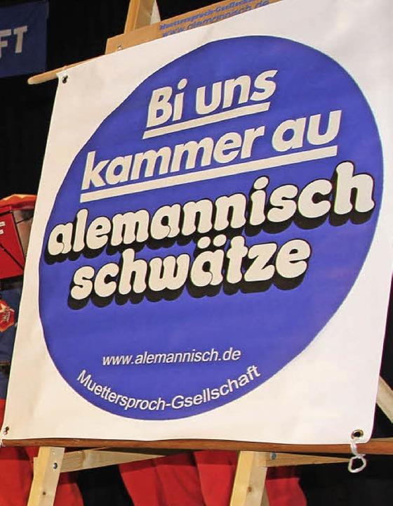 Dialekt erlaubt: So wirbt die Vereinigung.   | Foto: Sabine Model