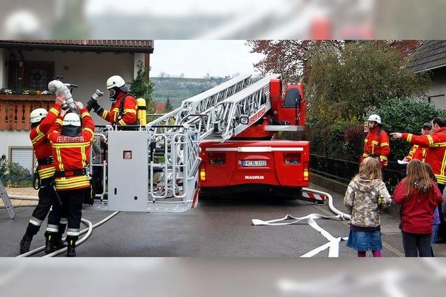 Knifflige Aufgabe für die Feuerwehr