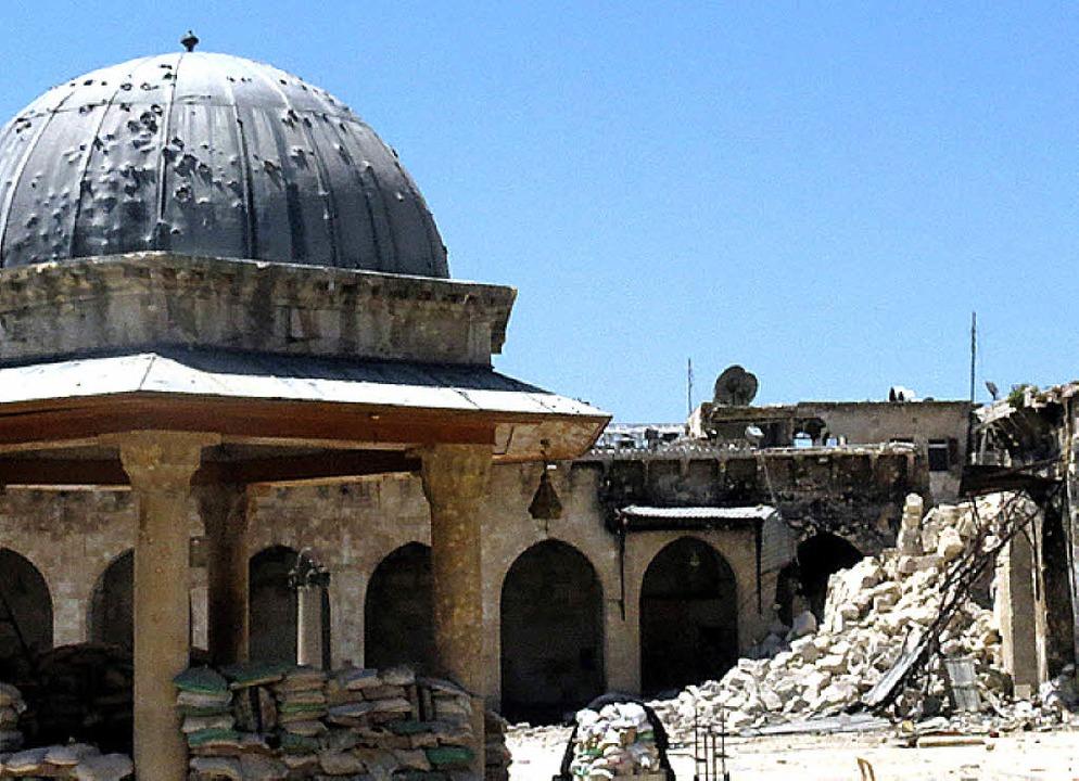 Die Moschee nach der Zerstörung  | Foto: AFP