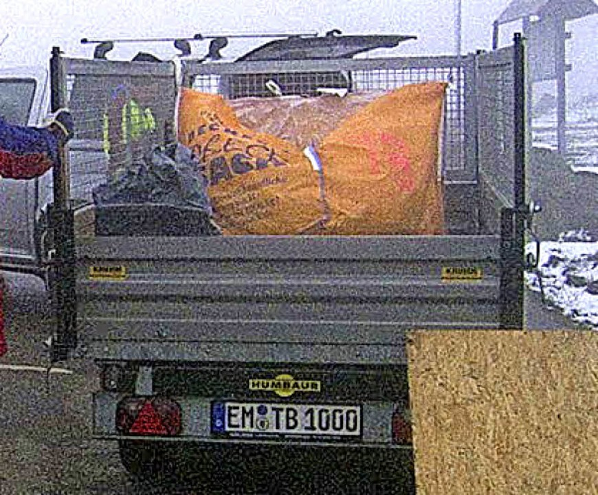 Müll vom Kandel   | Foto: ZVG