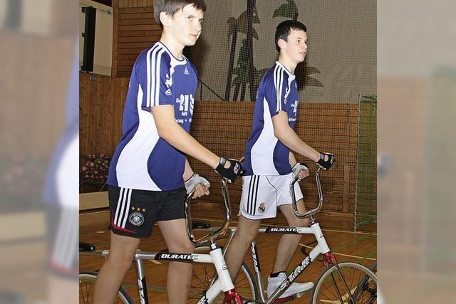 Radballteam Joshua Eckert/Robin Leber muss Finale um Deutsche Meisterschaft sausen lassen