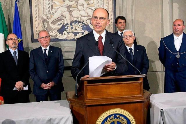 Neue Regierung in Italien steht - Vereidigung am Sonntag
