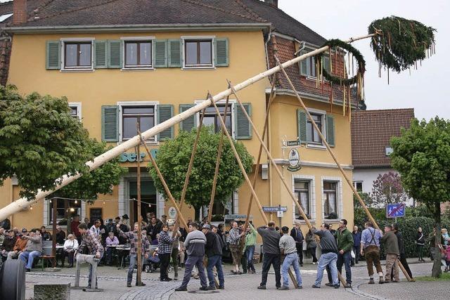 Maifeiertag in Lörrach: Rechtzeitig kam die Sonne raus