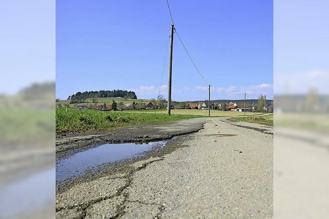 Marode Straße wird saniert